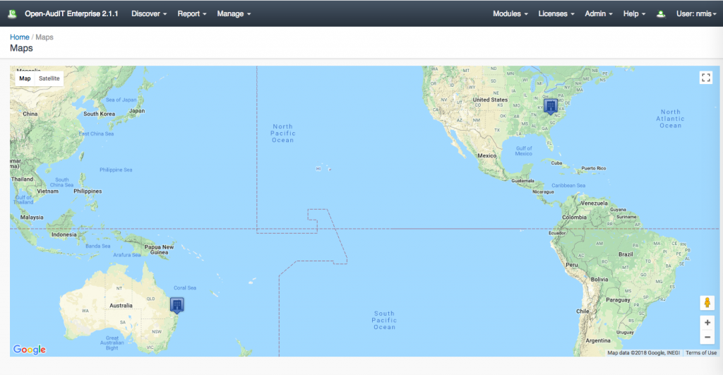 Geographical Network Mapping Software