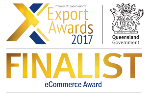 2017 Queensland Export Awards Finalist - eCommerce Award