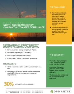 [USER STORY] North American energy Company automates compliance
