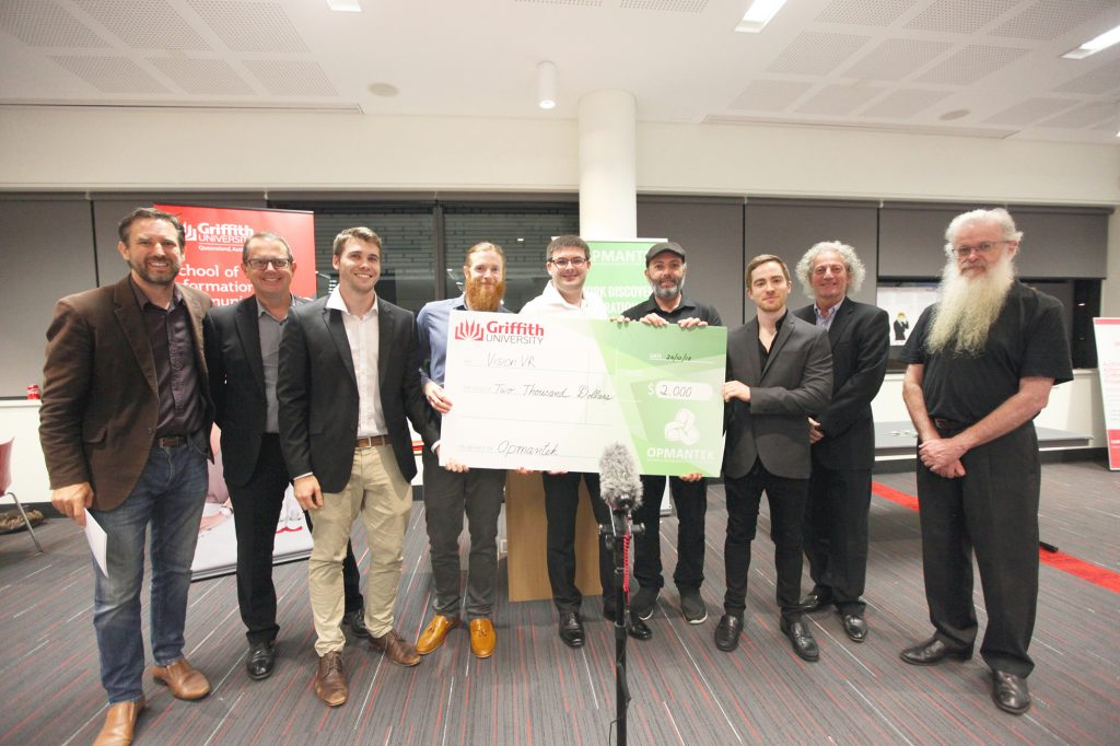 Opmantek Awards - Winners Judges and Cheque